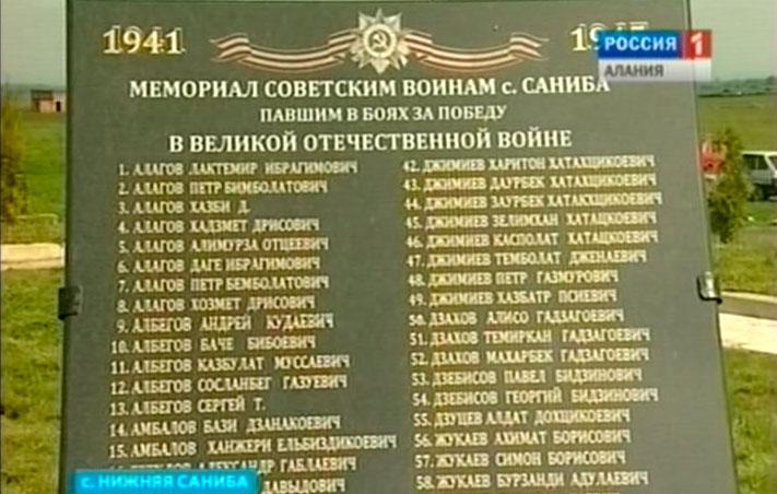 В Нижней Санибе открылся памятник воинам-землякам, павшим в Великой Отечественной войне