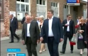 Беслан посетила делегация из Ставропольского края, чтобы почтить память погибших в теракте