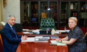 Вячеслав Битаров встретился с министром просвещения РФ Ольгой Васильевой