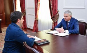 Вячеслав Битаров провел рабочую встречу с новым руководителем Агентства развития Северной Осетии