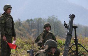 Минометчики ЮВО осваивают методику скоростной стрельбы на полигоне в Северной Осетии