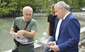 Вячеслав Битаров проинспектировал ход работ по благоустройству Центрального парка Владикавказа
