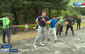 В лагере «Дзинага» открылась спортивная смена