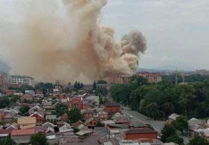 МЧС: пожар на пр. Доватора произошел в складском помещении