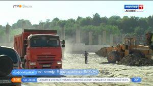 В Северной Осетии продолжается строительство моста на автодороге Владикавказ — Лескен