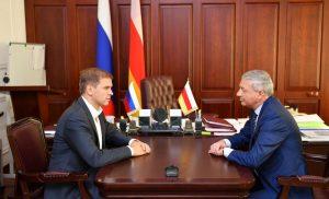 Глава Северной Осетии встретился с начальником управления президента РФ по общественным проектам Сергеем Новиковым