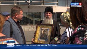 Во Владикавказ доставили икону Божьей Матери «Семистрельная»
