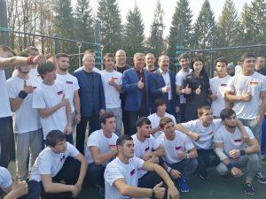Во владикавказском дендрарии открыли самую крупную площадку для занятия воркаутом на Северном Кавказе