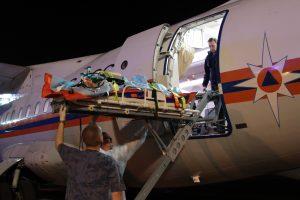 Спецборт МЧС доставил в Москву пострадавшего от удара током 12-летнего моздокчанина