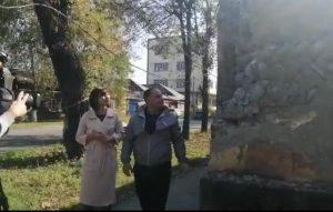 Активисты проверяют состояние памятников культурного наследия