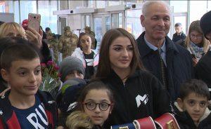 «Королеву нокаутов» Фатиму Дудиеву встретили на родине