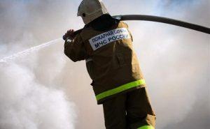 В одном из жилых домов Беслана произошло возгорание