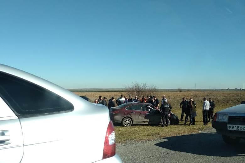 ДТП на развилке Цалык-Хумалаг: водителю стало плохо за рулем