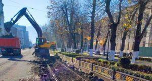 На пр.Мира началась реконструкция трамвайных путей
