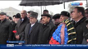 Делегация из Азербайджана почтила память солдат и офицеров 223-й стрелковой дивизии в с.Веселом