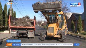 Во Владикавказе завершается дорожно-строительный сезон