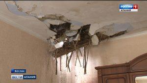 В Беслане жильцы дома на улице Гагарина не могут вернуться в свои квартиры после пожара