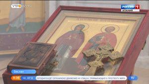 В Северную Осетию привезли икону князя Михаила Тверского и княгини Анны Кашинской