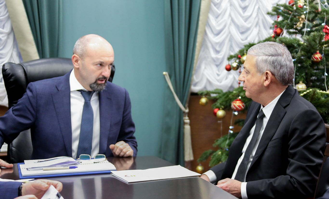 Вячеслав Битаров встретился с руководитель Федерального агентства лесного хозяйства Сергеем Аноприенко