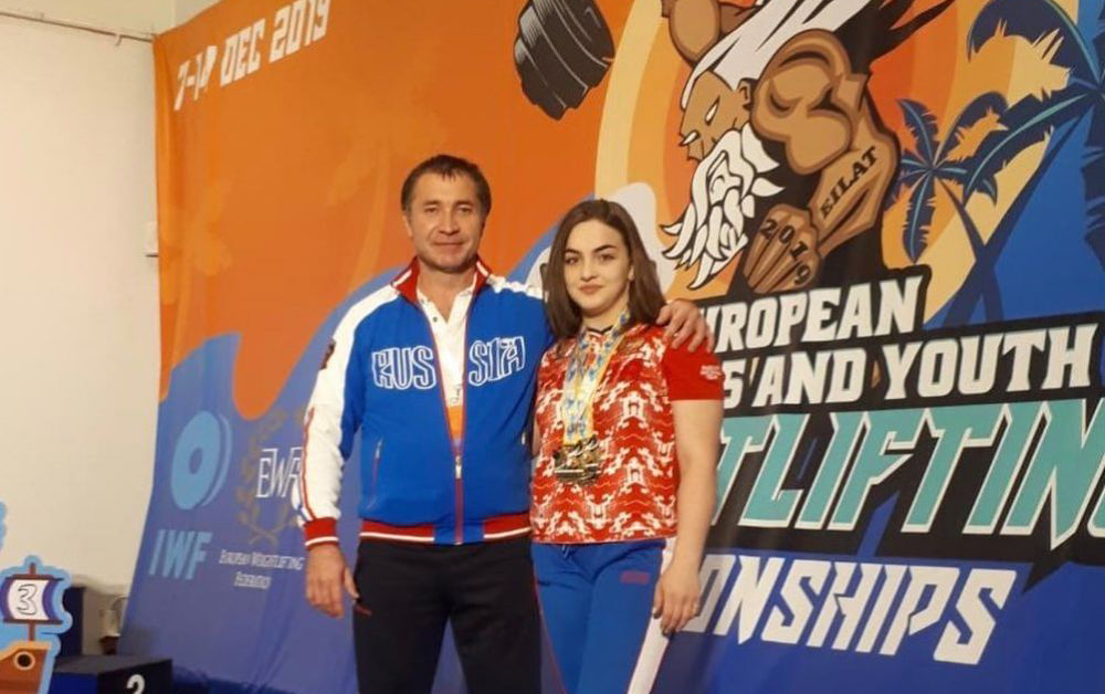 Яна Сотиева выиграла первенство Европы по тяжелой атлетике