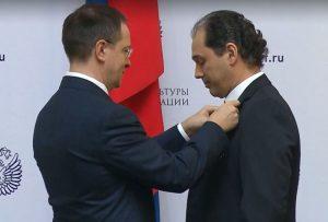 Туган Сохиев награжден медалью ордена «За заслуги перед Отечеством» I степени