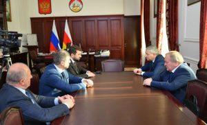 Вячеслав Битаров встретился с директором департамента мелиорации Минсельхоза РФ Дмитрием Сорокиным