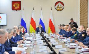 Во Владикавказе прошло совместное заседание Антитеррористической комиссии и Оперативного штаба