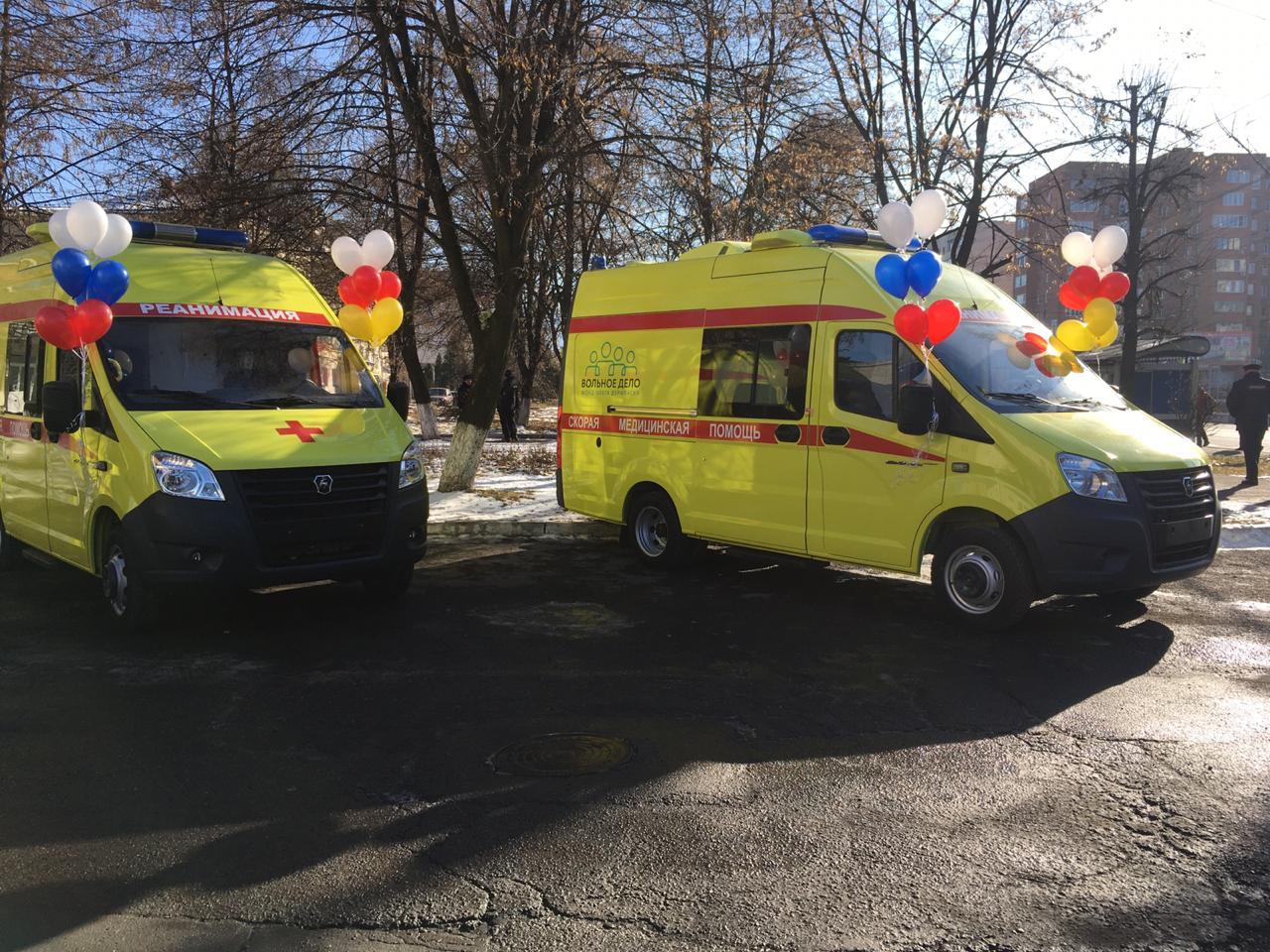 Парк реанимобилей станции скорой помощи Владикавказа пополнился тремя машинами