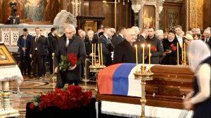 Делегация Северной Осетии приняла участие в церемонии прощания с Юрием Лужковым