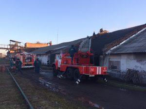 Пожарные потушили возгорание на одном из бесланских заводов