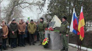 В станице Павлодольской открылили памятник воинам, погибшим в локальных конфликтах
