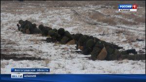 Под Волгоградом прошли учения новобранцев мотострелкового соединения ЮВО