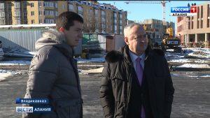 Таймураз Тускаев посетил объекты строительства во Владикавказе и пяти районах республики