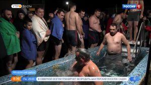 Жители станицы Луковской приняли участие в крещенских купаниях