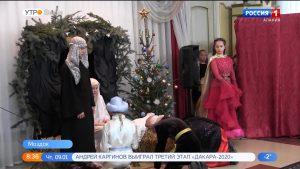 В Моздокском храме Успения Пресвятой Богородицы представили рождественский спектакль
