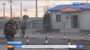 Разведчики российской военной базы в Цхинвале отразили нападение условного противника