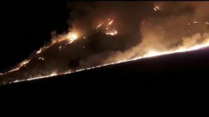 Площадь возгорания сухостоя в Ирафском районе составила около 15 га