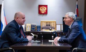 Вячеслав Битаров и Сергей Чеботарев обсудили перспективы социально-экономического развития Северной Осетии