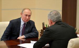 Рабочая встреча Владимира Путина и Вячеслава Битарова. Видео