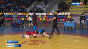 Во дворце спорта «Манеж» проходит первенство по вольной борьбе
