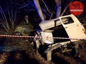 В Северной Осетии произошло крупное ДТП с участием бронетранспортера