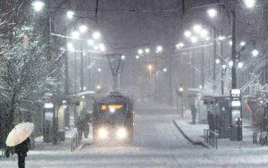 Трамваи не вышли на линии из-за сильного снегопада