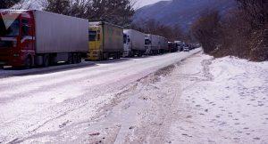 Военно-Грузинская дорога снова закрыта для большегрузов