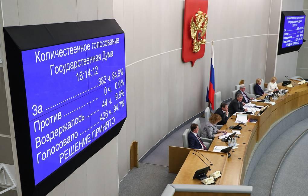 Госдума приняла во II чтении законопроект о внесении изменений в Конституцию