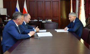 Вячеслав Битаров встретился с представителями правления ПАО «Газпром»