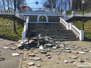 Во Владикавказе на набережной по ул.Кесаева начались работы по благоустройству территории