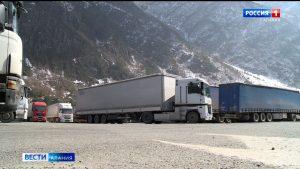 На МАПП «Верхний Ларс» увеличился поток большегрузов, следующих в страны Закавказья