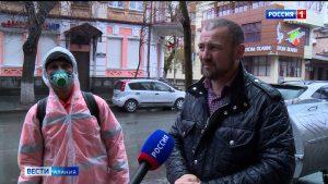 Во Владикавказе продезинфицировали остановки общественного транспорта