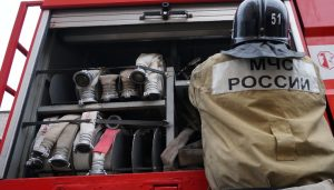 Пожар в здании бывшего Дома офицеров ликвидирован