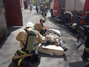 При пожаре во Владикавказе погибла 55- летняя женщина, еще один человек пострадал